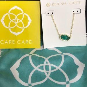 NWT Kendra Scott Elisa Necklace Emerald May